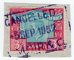 (I.B) South Africa Revenue : Duty Stamp 3/- (language error)