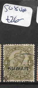 KUWAIT (P01003B)  ON INDIA KGV 4A  SG 8  VFU