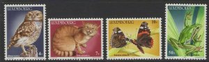 LUXEMBOURG SG1161/4 1985 ENDANGERED ANIMALS MNH