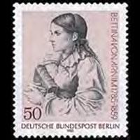 GERMANY-BERLIN 1985 - Scott# 9N498 Writer Arnim Set of 1 NH