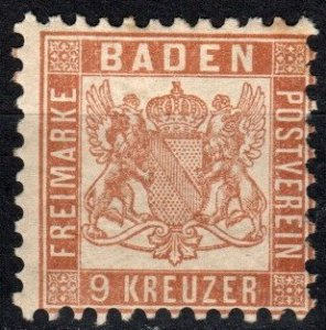 Baden #23 F-VF  Unused CV $16.00  (X4067)
