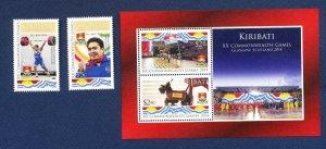 KIRIBATI - Scott 1017-1019  - FVF MNH - Sports, Commonwealth Games - 2014