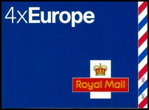 2004 4 X 40g European Stamps Complete Booklet CYL W2 W2 SG MI2