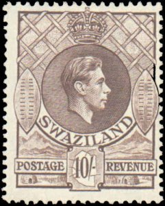 Swaziland #37, Incomplete Set, High Value, 1938, Hinged