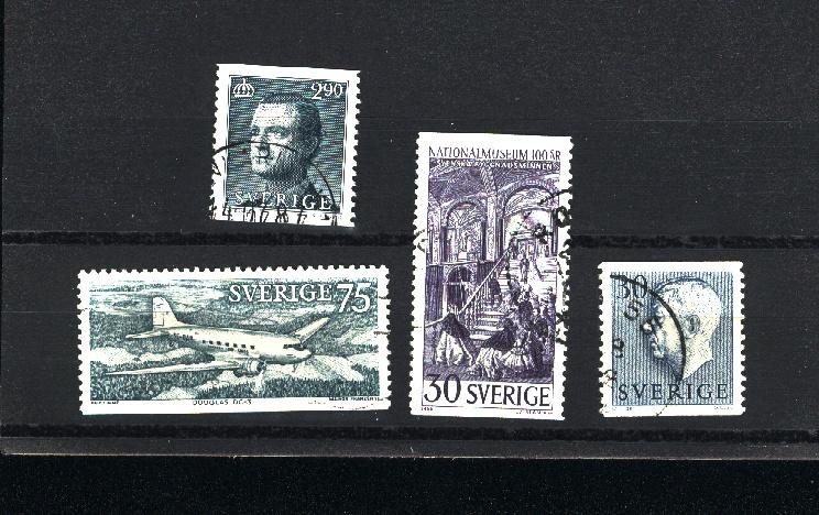 Sweden 4 different used  PD