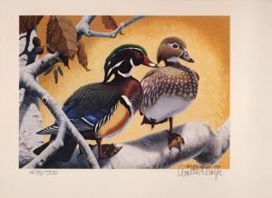 CALIFORNIA #9 1979 STATE DUCK STAMP PRINT WOOD DUCKS by Walter Wolfe  418/500