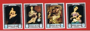 Dubai #97-100  VF used  Paintings  Free S/H