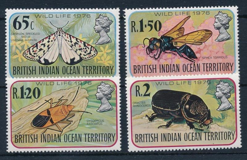 [30445] British Indian Ocean Territory 1976 Insects Insekten Insectes  MNH