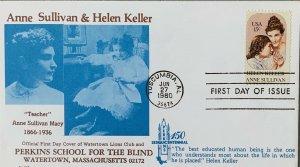 Perkins School Blind Watertown MA Lion's Club 1824 Anne Sullivan & Helen Keller