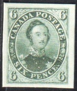 Canada #2TCiii XF Proof on card -- Imperf -- Grey color -C$1500.00