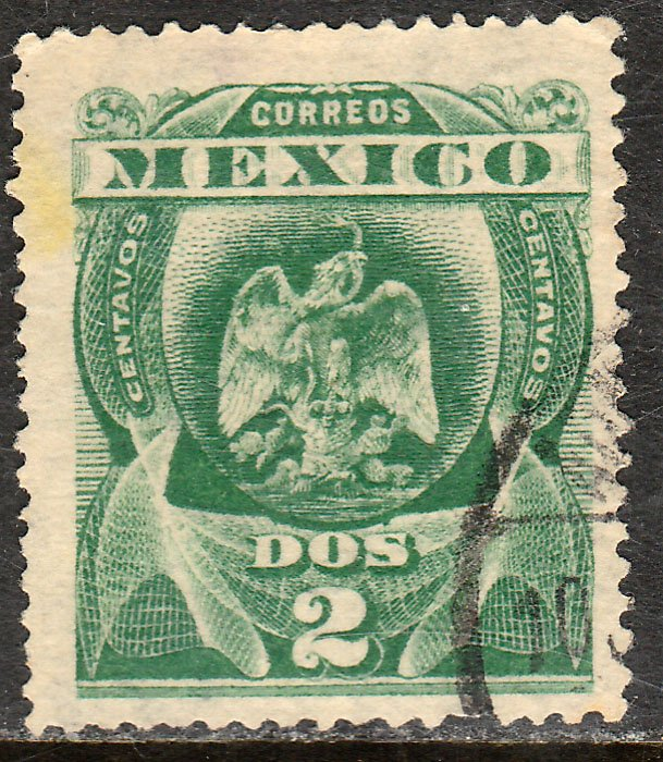 MEXICO 305, 2cents EAGLE COAT OF ARMS. USED. VF. (202)
