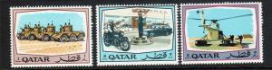 Qatar Scott 172-74!  MNH!