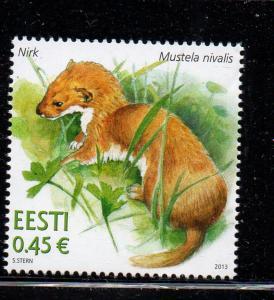 Estonia Sc 733 2013 Weasel stamp mint NH
