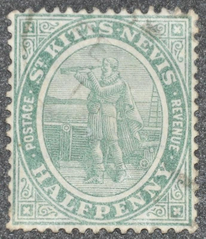 DYNAMITE Stamps: St. Kitts-Nevis Scott #12 - USED