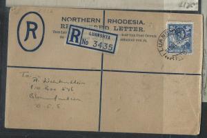 NORTHERN RHODESIA (PP1405B) 1951 RLE 4D+ 3D TO ORANGE FREE STATE