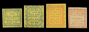COLOMBIA 1888 ANTIOQUIA - MEDELLIN issue  2½c -5c set  Scott# 69-71  mint MH VF