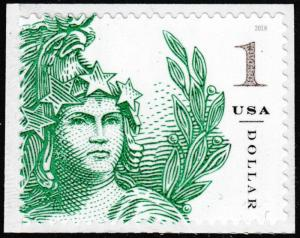 US 5295 Statue of Freedom One Dollar Emerald Green $1 single (1 stamp) MNH 2018