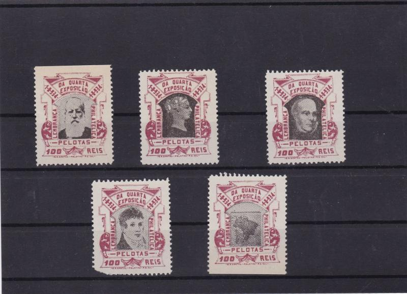 brazil mnh local post stamps set ref 11523