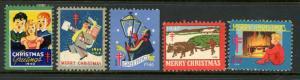 1940s Christmas Seal Assortment Used