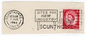 (I.B) Elizabeth II Postal : Slogan Postmark (Scunthorpe - New Industry)