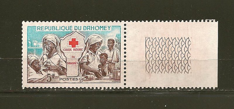 Dahomey 156 Red Cross With Tab MNH