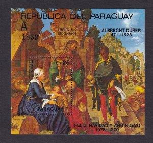 Paraguay  #1887  MNH  1979   MNH  Durer paintings   sheet