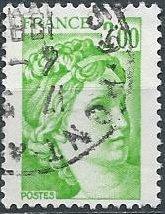France 1575 (used) 2fr Sabine, after J.-L. David, emerald (1978)