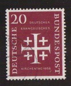 Germany  #745  used  1956  Synod  20pf