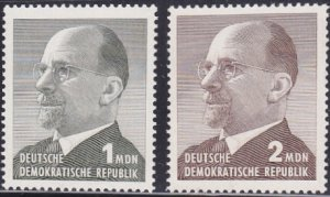 DDR #751-752 MNH CV$0.90