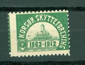 Denmark. Poster Stamp Mnh. 1912. Korsør Rifle Club 1862 -1912.