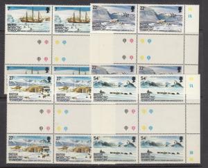 British Antarctic Territory 121-4 gutter pairs mnh
