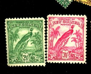New Guinea #34 36 MINT F-VF OG NH