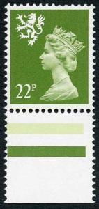 SGS48ea 1984 22p yellow-green Scotland (JW type 2) Scarce U/M