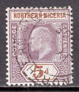 Northern Nigeria - Scott #14 - Used - Pencil on reverse - SCV $5.50