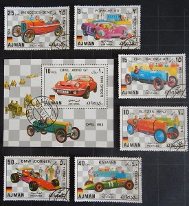 Ajman, 1971, Automobiles, Cars, Block, (1661-Т)