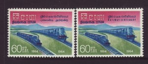1964 Ceylon Railway Centenary Set Mounted Mint SG503/504
