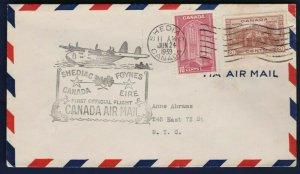 FFC SHEDIAC NEW BRUNSWICK CANADA TO FOYNES IRELAND, 1939 (K431)