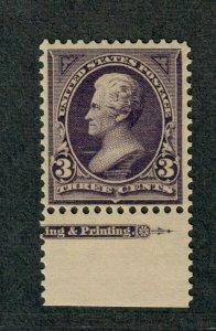 US Sc#268 M/NH/F-VF, Imprint Single, Cv. $115