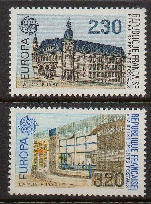 France 1990 Europa Post Offices VF MNH (2218-9)