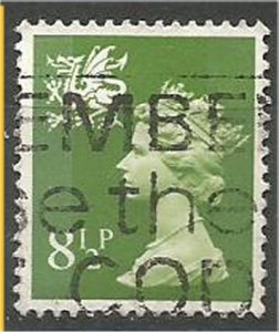 WALES & MONMOUTHSHIRE, 1971, used 8 1/2p  Marchins, Scott WMMH11