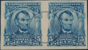 #315 VF+ USED PAIR WITH PFC (COPY) CV $12,500.00 WL212