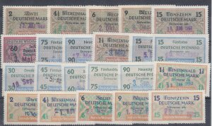 Germany, Wechelsteuer Exchange Fee Revenue Stamp group, 22 different, used, F-VF