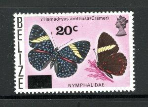 Belize SC380 BeautifulButterfly-Surcharged MNH 1976
