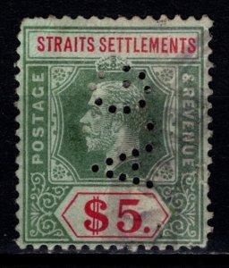 Straits Settlements 1912 George V Definitive, $5 [Used]