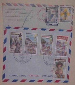 GUATEMALA  SCOUTS 1985 FDC & 1969 COVER