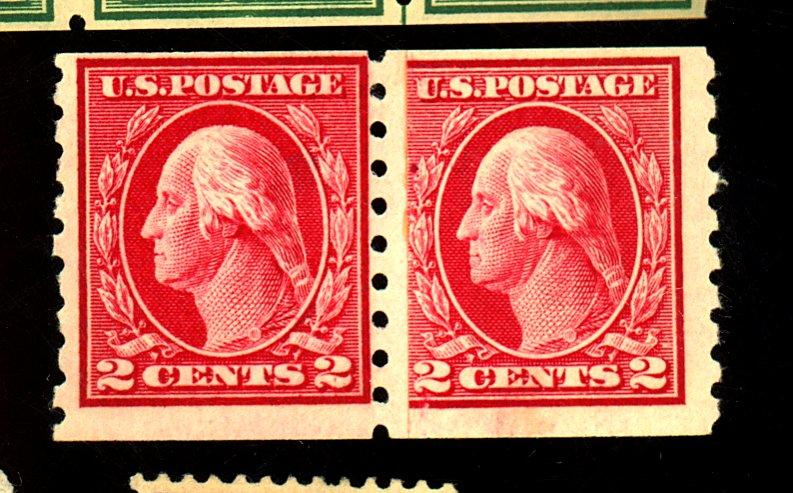413 MINT Paste up Pair F-VF OG NH Light crease Pencil # on gum Cat $260