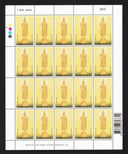 THAILAND STAMP 2001 VISAKHAPUJA DAY 3 BAHT FULL SHEET OF 20 STAMPS