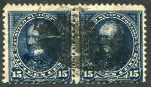 274 15c Henry Clay Used Pair