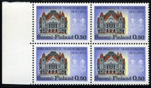 Finland 514 blk4 MNH - Finnish National Theater