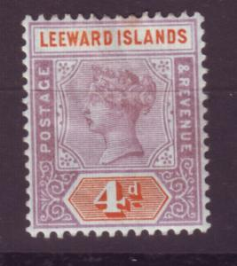J16703 JLstamps 1890 leeward islands mhr #4 queen wmk 2